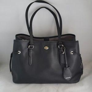 Coach Peyton Black Leather Carryall